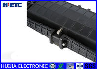 Black IP68 Fiber Optic Closure / Fiber Enclosure Box Corrosion Resistance