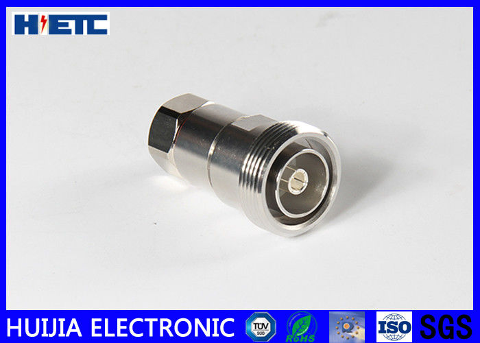 "RF Straight Female Din Connector , TFE Insulators 50ohm 1/2"" Coaxial Cable Adapter"