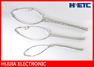 "China Outdoor Stainless Steel Cable Pulling Grips Mesh , 2 - 1/4"" Feeder Cable / Antenna Wire Pulling Basket factory"