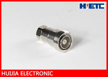 "China 1/2"" Feeder Cable  Coax To Antenna Adapter , RF DIN Straight N Type Female Connector distributor"