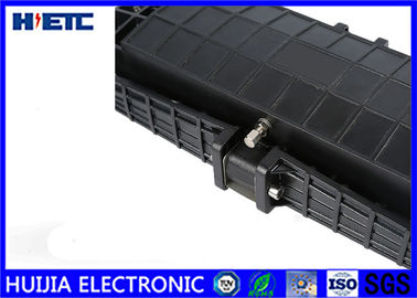 China Black IP68 Fiber Optic Closure / Fiber Enclosure Box Corrosion Resistance distributor